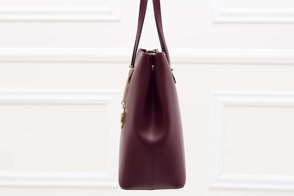 37eeaf10c0 Glamadise.sk - Dámska kožená kabelka s cvokmi po strane - vínová -  Glamorous by GLAM - Kožené kabelky - - GLAM