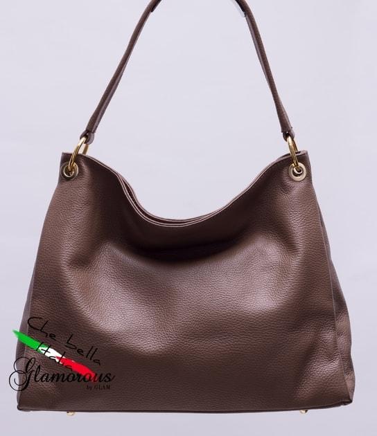 941a7a6899 Glamadise.sk - Kožená kabelka s jedným ucho hnedá - Glamorous by GLAM - Kožené  kabelky - - GLAM
