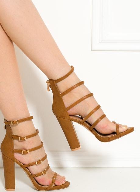 4c48f74ca6 Glamadise.sk - Dámske camel sandále na masívnom podpätku - GLAM GLAMADISE  shoes - Sandále - Dámske topánky - GLAM
