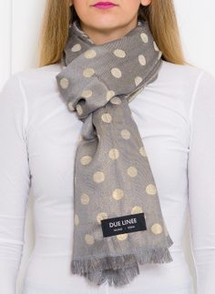 Women's scarf Due Linee - Grey