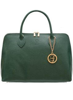 Real leather handbag Glamorous by GLAM - Green