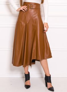 Skirt Due Linee - Brown