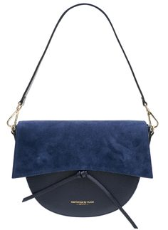 Real leather shoulder bag Glamorous by GLAM - Dark blue