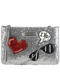 Women's clutch Love Moschino - Silver