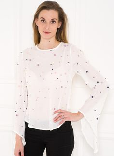 Women's top Due Linee - White