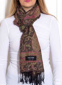 Women's scarf Due Linee - Green