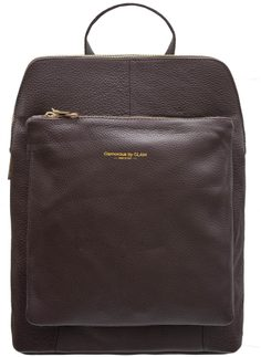 Women's real leather backpack Glamorous by GLAM - Brown