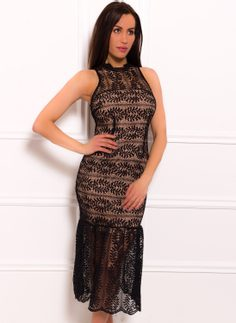 Midi dress Due Linee - Black
