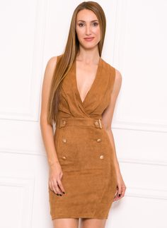 Italian dress Due Linee - Brown
