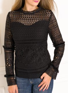 Women's top Due Linee - Black