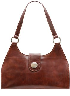 Real leather shoulder bag Glamorous by GLAM Santa Croce - Brown