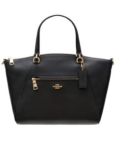 Real leather handbag Coach - Black