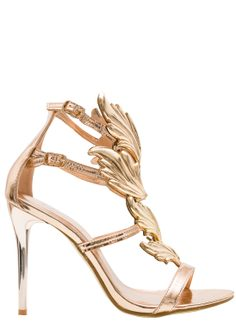 Women's sandals GLAM&GLAMADISE - Gold