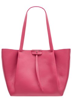 Real leather shoulder bag PATRIZIA PEPE - Pink