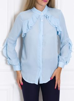 Women's top Due Linee - Blue