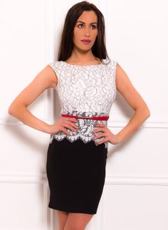 Dress for everyday Due Linee - Black-white