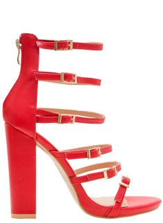 Women's sandals GLAM&GLAMADISE - Red