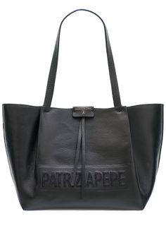 Real leather shoulder bag PATRIZIA PEPE - Black