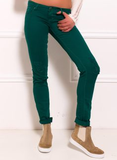 Women's jeans Due Linee - Green