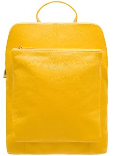 Real leather backpack Glamorous by GLAM - Yellow