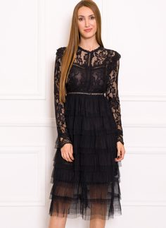 Lace dress Due Linee - Black