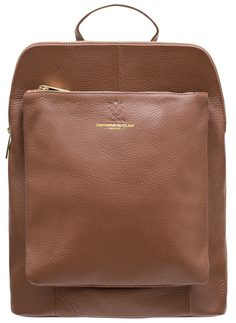 Real leather backpack Glamorous by GLAM - Brown