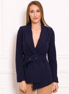 Women's blazer Due Linee - Dark blue