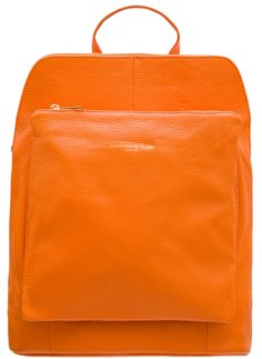 Women's real leather backpack Glamorous by GLAM - Orange