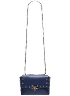 Real leather crossbody bag Glamorous by GLAM - Blue