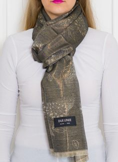 Women's scarf Due Linee - Black