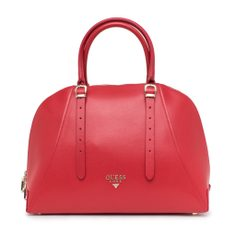 Real leather handbag Guess Luxe - Red