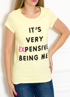 Women's T-shirt Due Linee - Yellow
