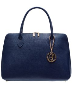 Real leather handbag Glamorous by GLAM - Dark blue