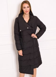 Women's winter jacket Due Linee - Black