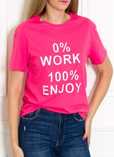 Women's T-shirt Due Linee - Pink