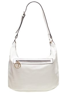 Real leather shoulder bag Glamorous by GLAM - White