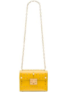 Real leather crossbody bag Glamorous by GLAM - Yellow