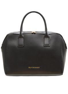 Real leather handbag Tru Trussardi - Black