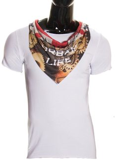 Men's t-shirt Glamorous by Glam - White
