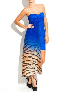 Party dress Due Linee - Blue