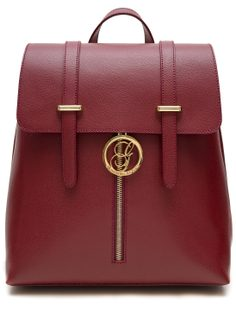 Women's real leather backpack Glamorous by GLAM - Wine