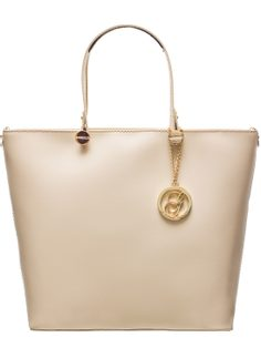 Real leather handbag Glamorous by GLAM - Beige