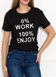 Women's T-shirt Due Linee - Black