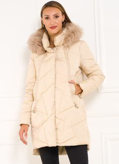 Winter jacket Due Linee - Creme