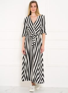 Maxi dress Glamorous by Glam - Black-white