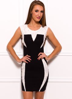 Italian dress Due Linee - Black-white