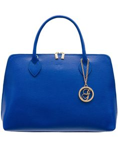 Real leather handbag Glamorous by GLAM - Blue