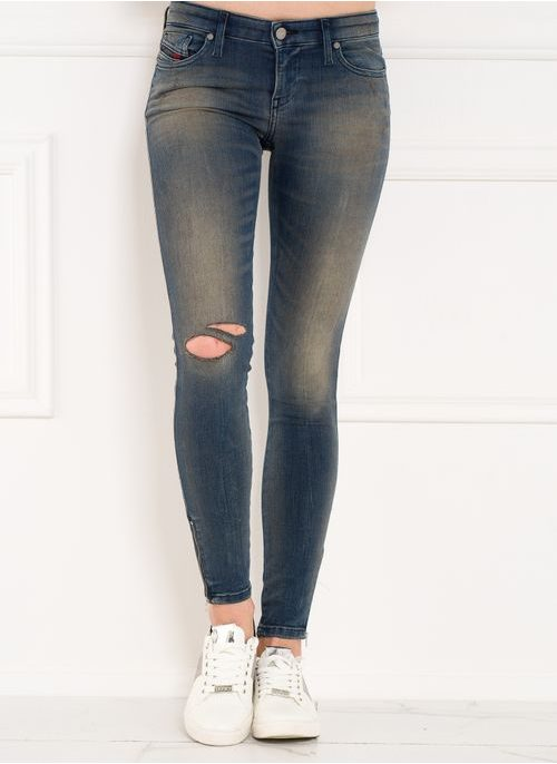 Dámské denim Diesel jeany Skinzee-low-zip super slim L32