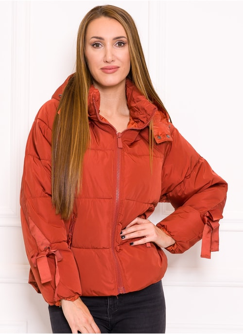 Women's winter jacket Due Linee - Orange