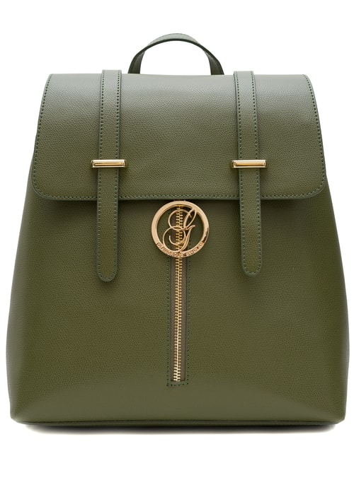 Women's real leather backpack Glamorous by GLAM - Green